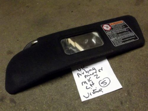 Sunvisor, l/h, Mazda MX-5 mk2, with mirror, left hand, UK type,  USED